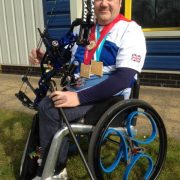 Para-archer-John-Stubbs-trying-out-loopwheels